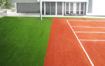 SPORTS INSTALLATIONS WITH FAKE GRASS